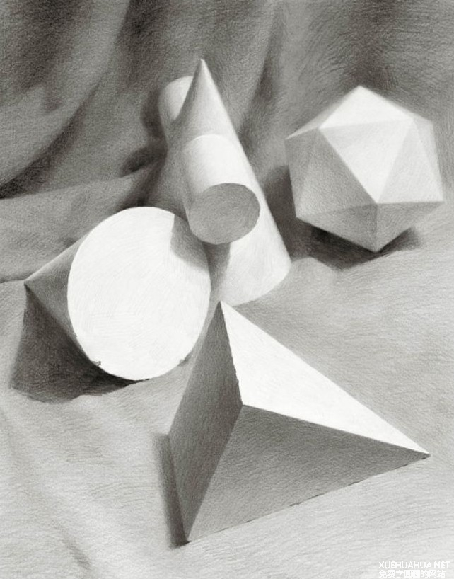 素描几何体作品系列之四
