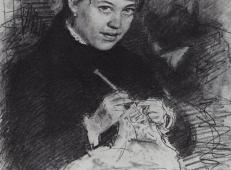 列宾素描作品《织毛衣的女人》.jpg