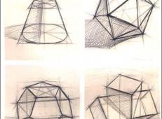 几何静物结构素描作品欣赏 (7).jpg