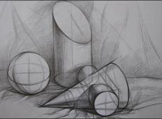 几何静物结构素描作品欣赏 (2).jpg