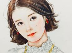彩铅画作品欣赏《fashion girl》.jpg