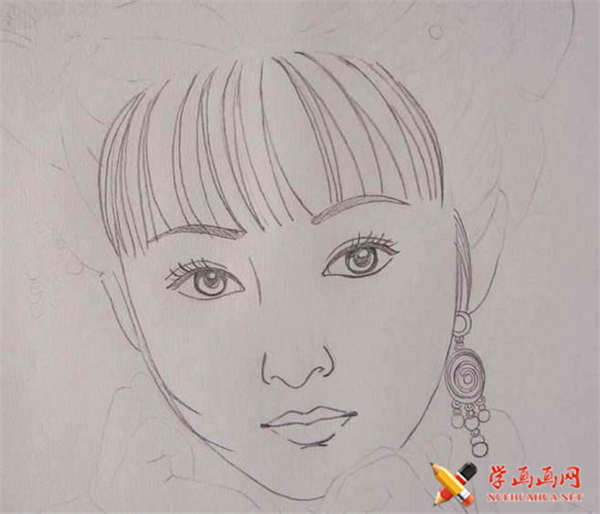 彩铅画古装美女步骤教程(适合初学者)(5)