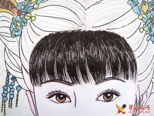 彩铅画古装美女步骤教程(适合初学者)(15)