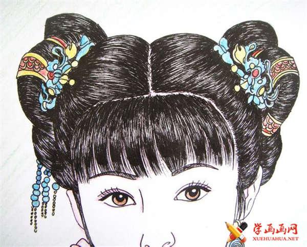 彩铅画古装美女步骤教程(适合初学者)(17)