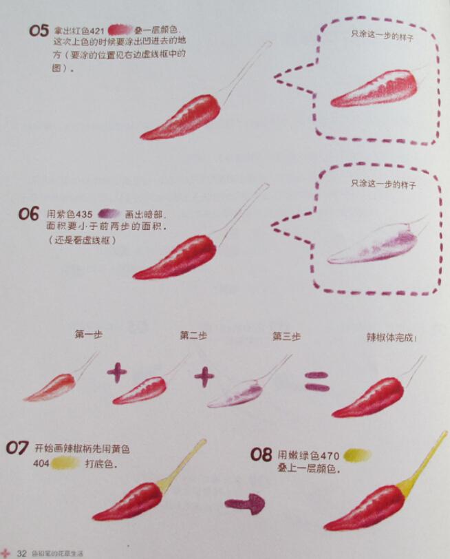 彩铅画入门教程:色铅笔的花草生活(1)