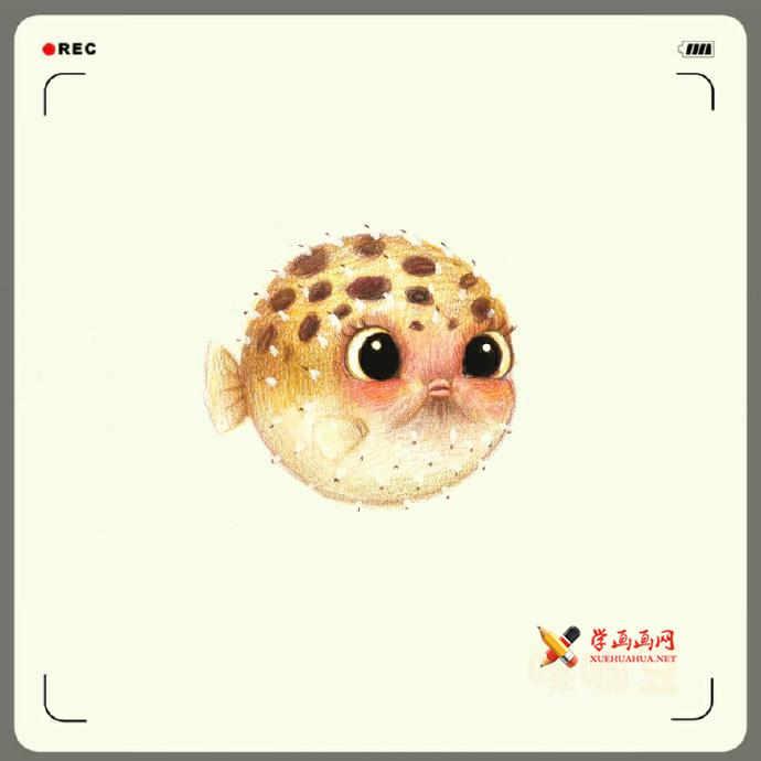 可爱的动物彩铅画__彩铅画