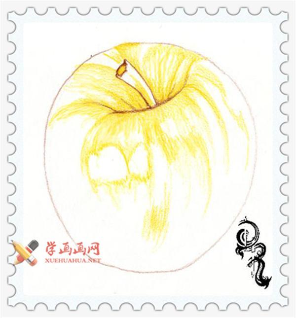 彩铅画教程_怎么画苹果(1)