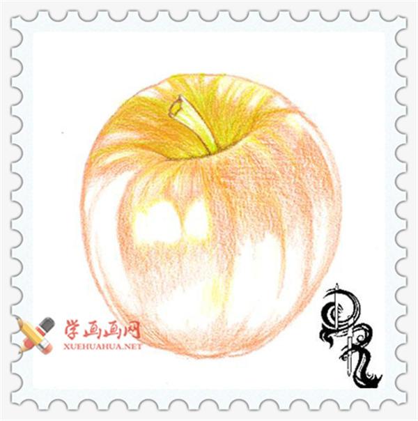 彩铅画教程_怎么画苹果(3)