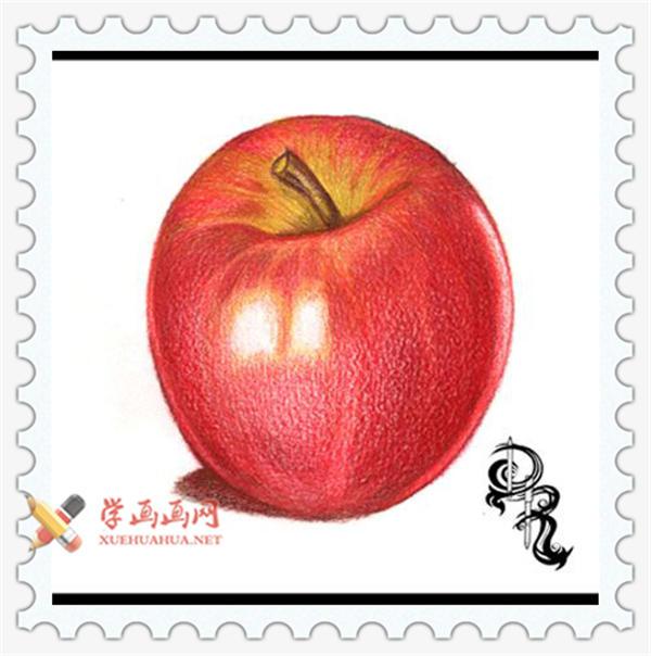 彩铅画教程_怎么画苹果(8)