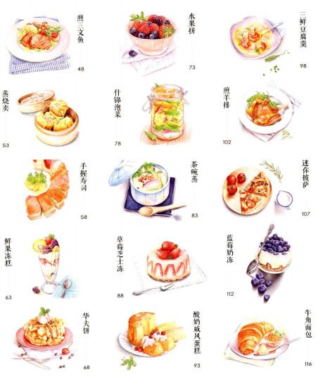 彩铅画美食教程(1)