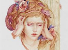 Jennifer Healy美女彩铅画肖像作品欣赏
