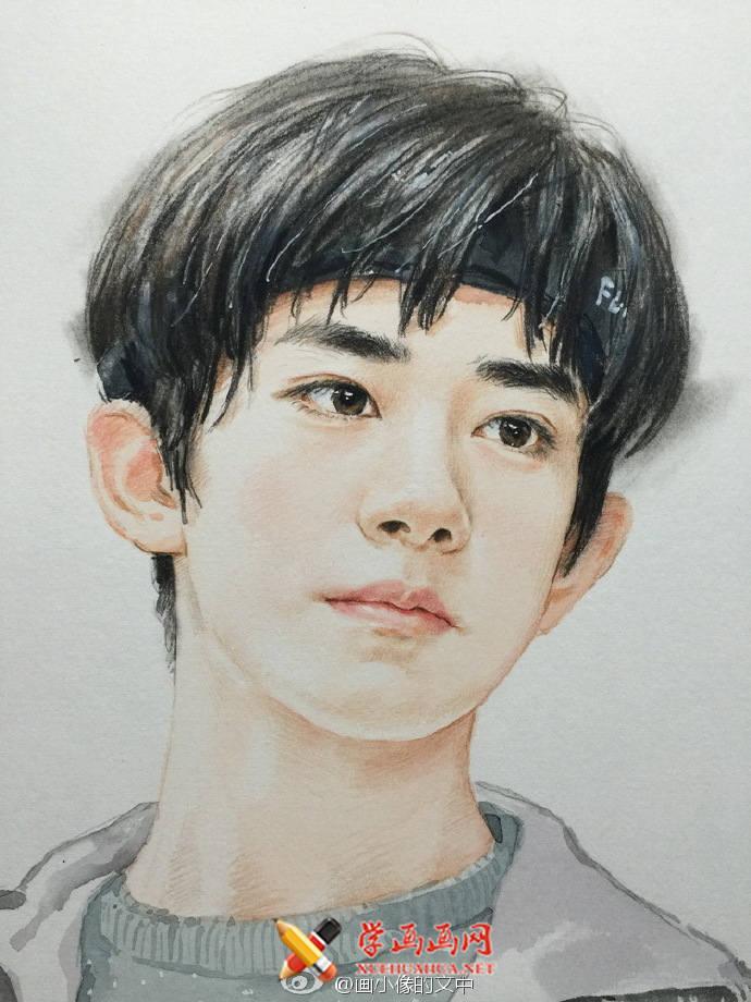 TFBOYS-易烊千玺彩铅画(2)