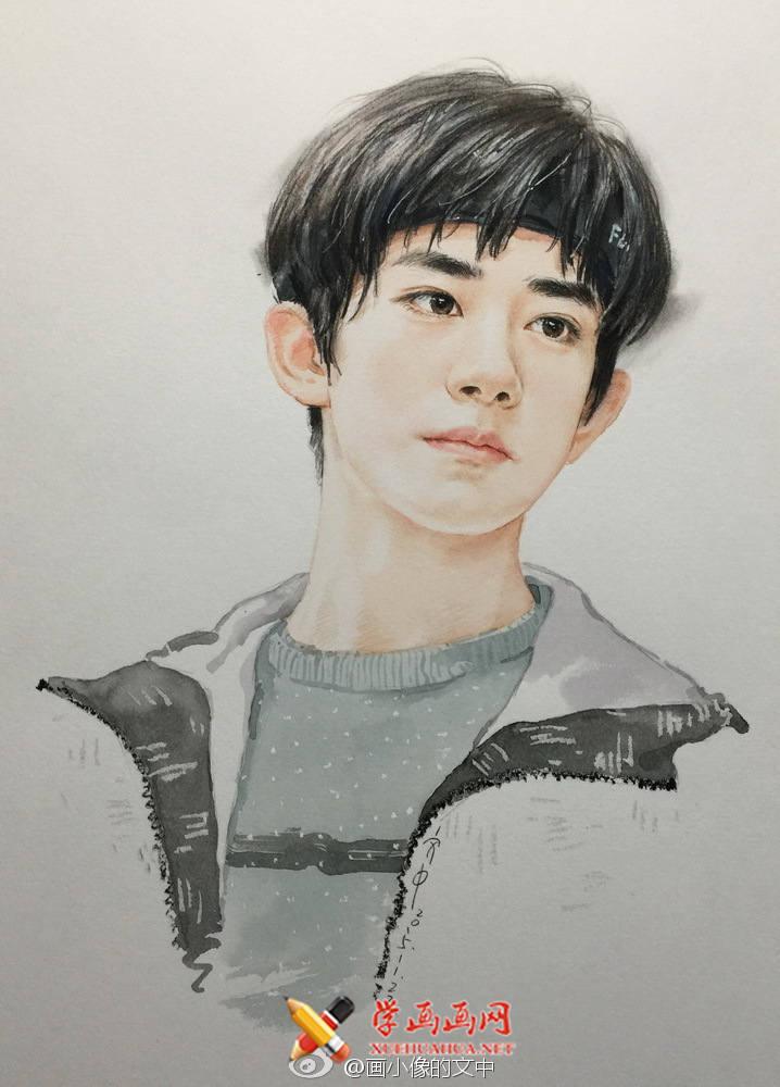 TFBOYS-易烊千玺彩铅画(3)