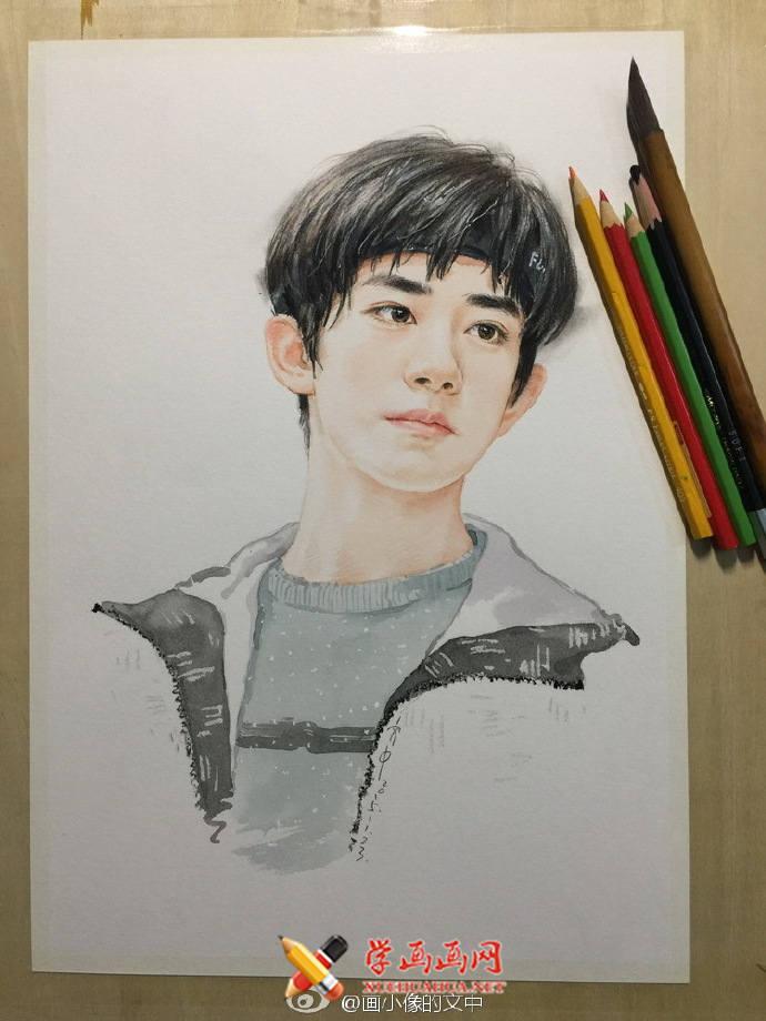 TFBOYS-易烊千玺彩铅画(4)