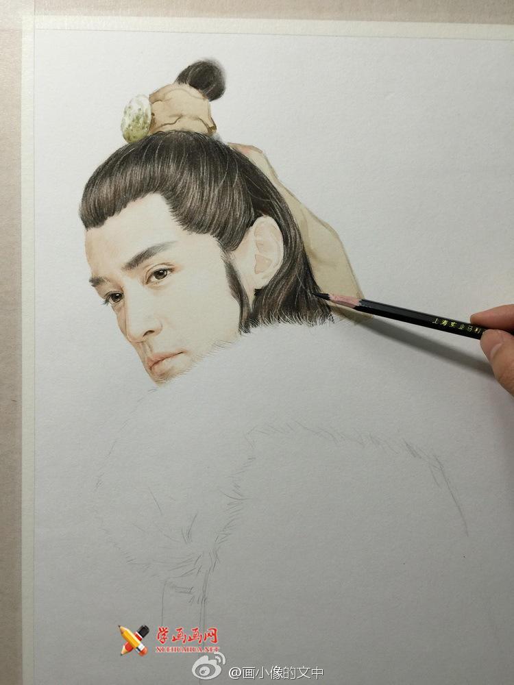 彩铅画琅琊榜《梅长苏》作画步骤(3)