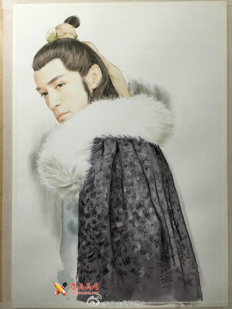 彩铅画琅琊榜《梅长苏》作画步骤(5)