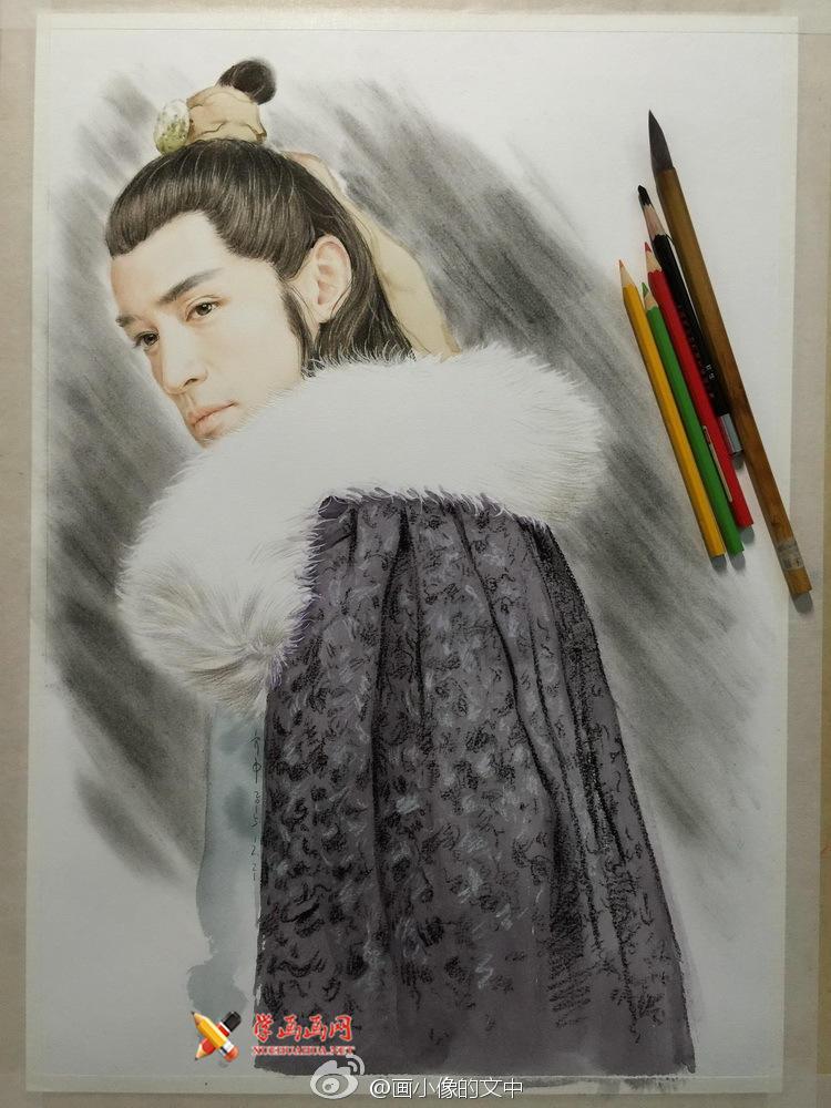 彩铅画琅琊榜《梅长苏》作画步骤(6)