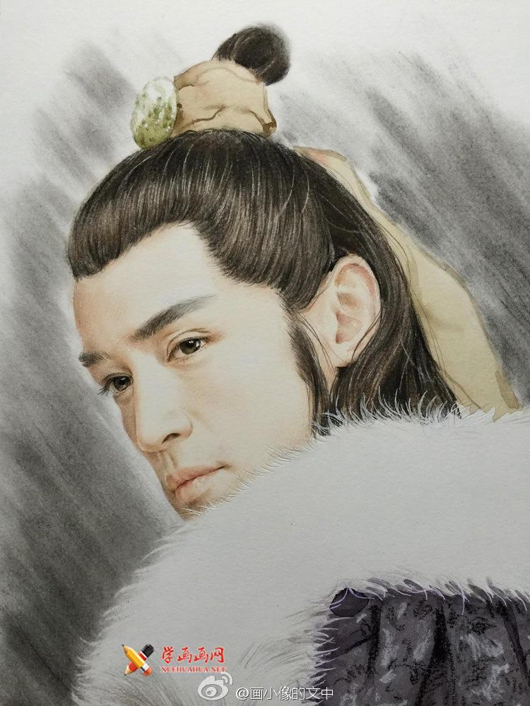 彩铅画琅琊榜《梅长苏》作画步骤(8)