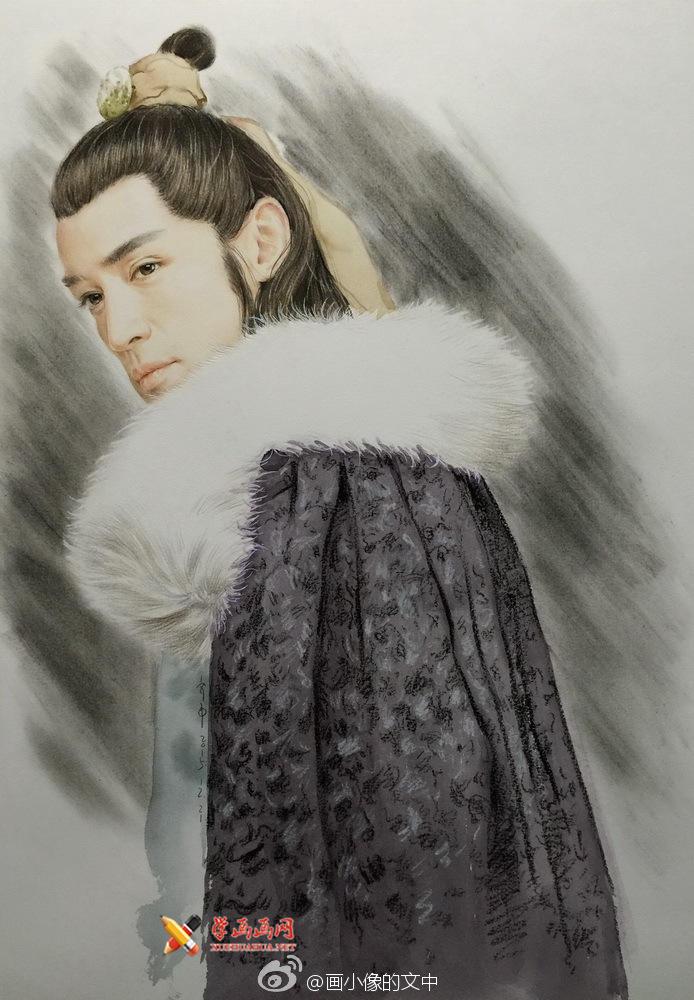 彩铅画琅琊榜《梅长苏》作画步骤(9)