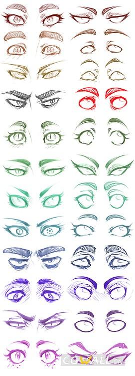 漫画眼睛画法图示2