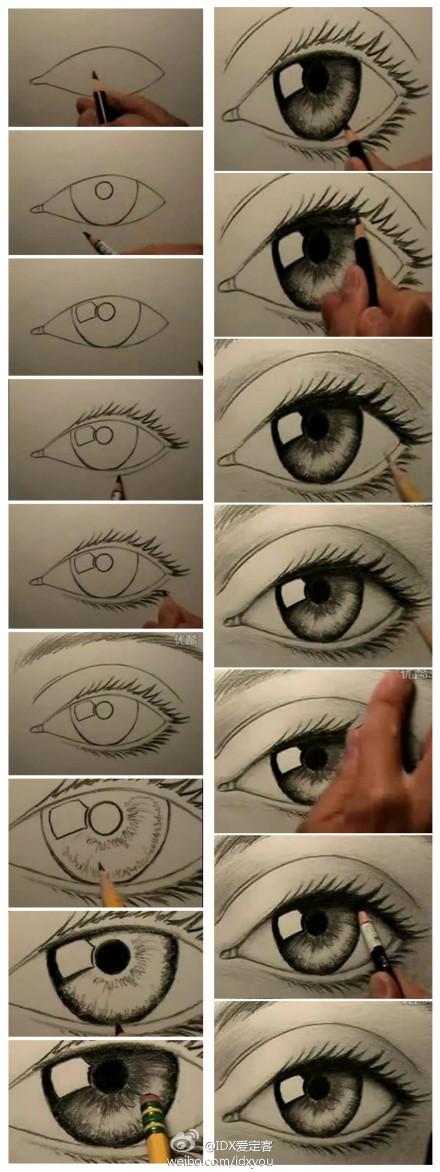 眼睛的画法分解步骤图