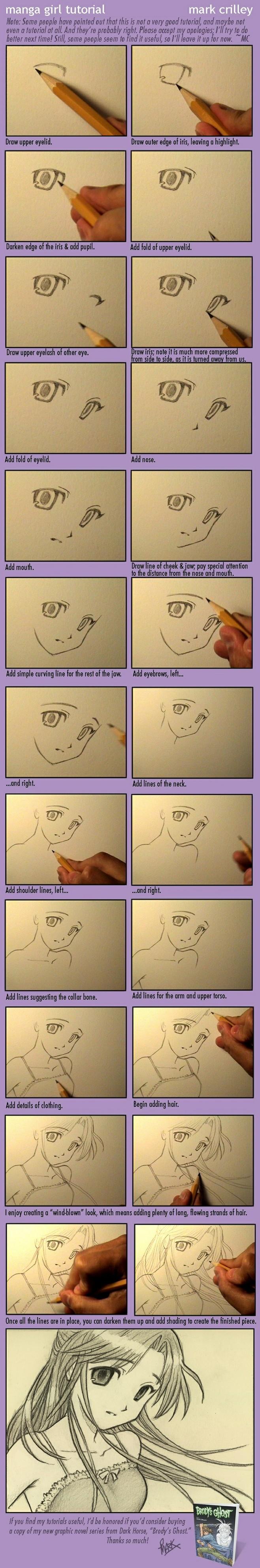 自学漫画_美少女的画法(1)