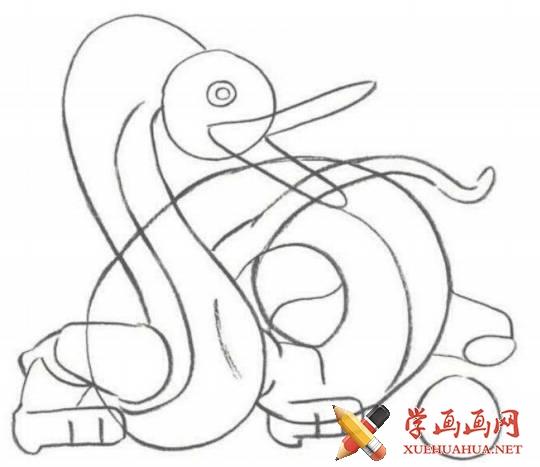 漫画教程_铅笔画中国龙的画法(2)