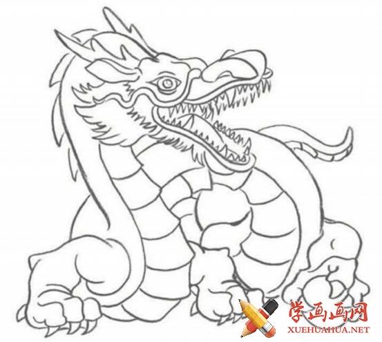 漫画教程_铅笔画中国龙的画法(4)