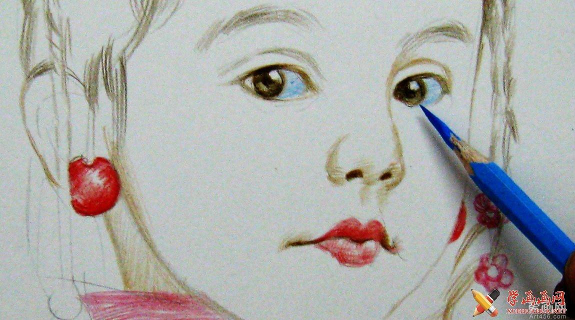 程鸿彩铅人物作品欣赏(3)