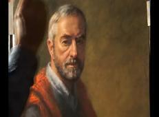 国外粉蜡笔人物肖像画步骤视频