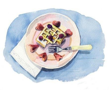 Holly Exley的美食水粉画作品欣赏(8)