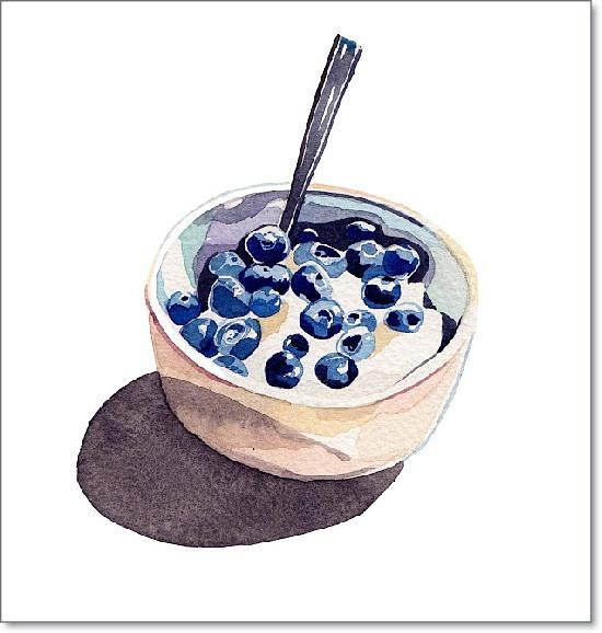 Holly Exley的美食水粉画作品欣赏(9)