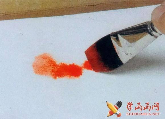 水彩画技法之渗化法