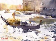 100幅漂亮的风景水彩画图片欣赏【高清】