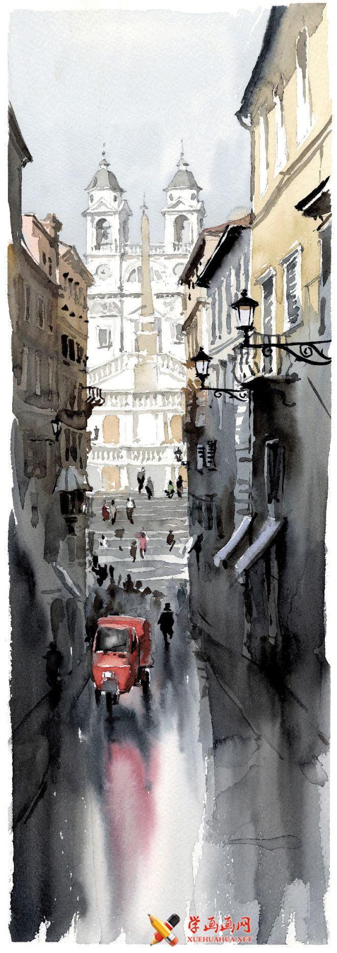 意大利画家Igor Sava的水彩画作品欣赏(1)