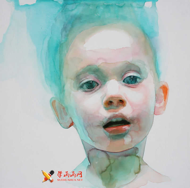 水彩画欣赏:Ali Cavanaugh笔下的儿童(1)