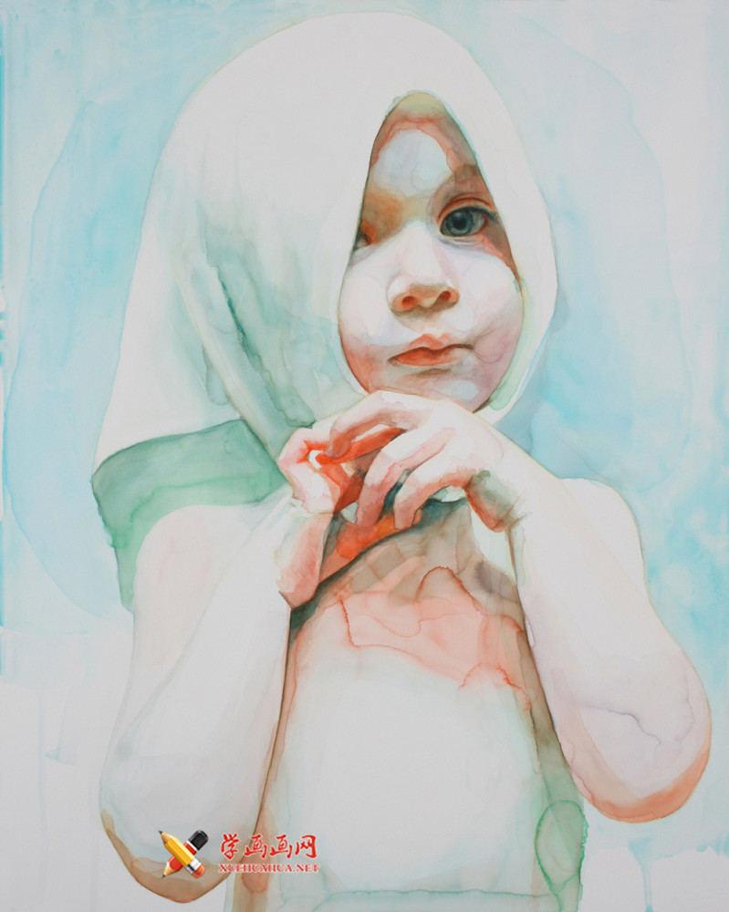 水彩画欣赏:Ali Cavanaugh笔下的儿童(3)