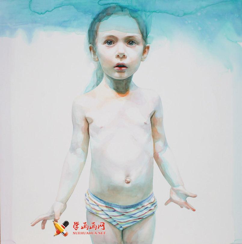 水彩画欣赏:Ali Cavanaugh笔下的儿童(5)