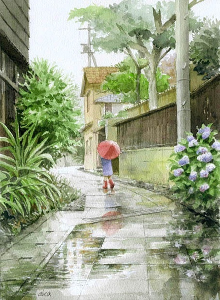 唯美的水粉风景画欣赏(5)