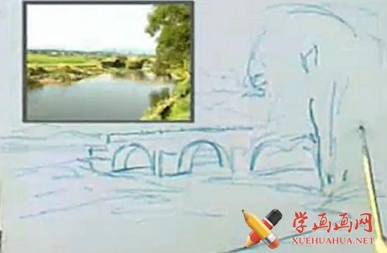 绘画入门_水粉风景画视频教程(1)