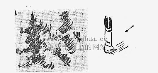 水粉画入门教程:水粉画的用笔方法(5)