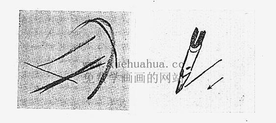 水粉画入门教程:水粉画的用笔方法(8)