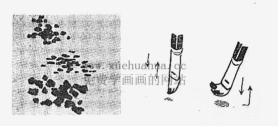 水粉画入门教程:水粉画的用笔方法(7)