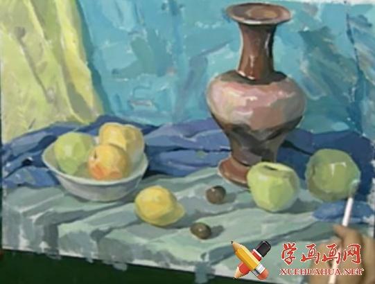 美术高考视频教学:水粉静物画法(1)