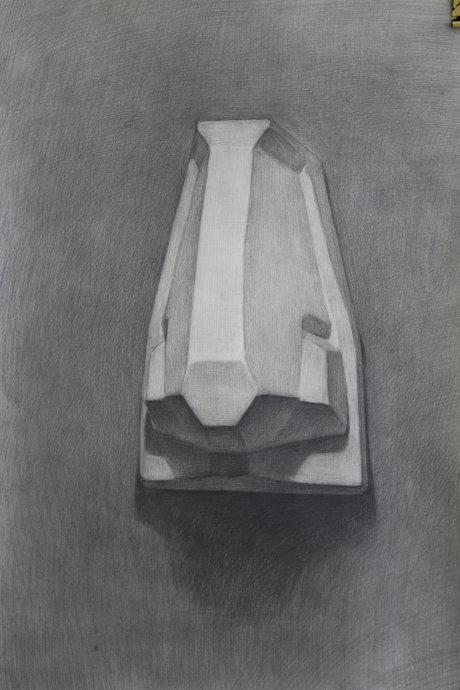 学画画网素描石膏像鼻子作品