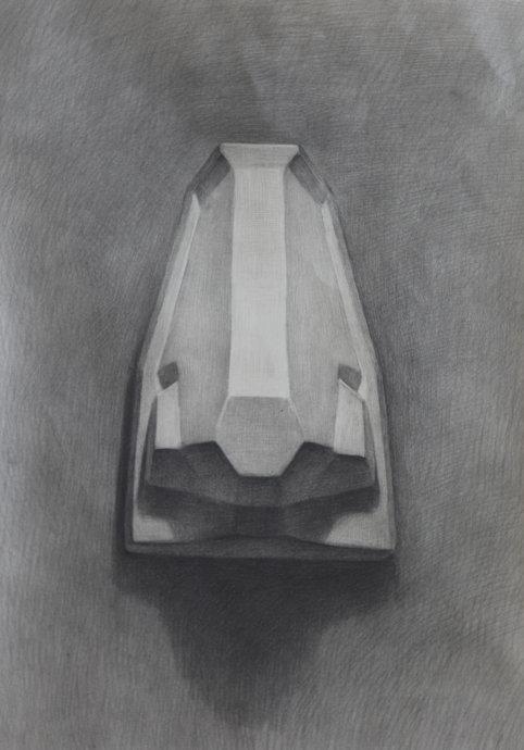 素描石膏像鼻子作品图集