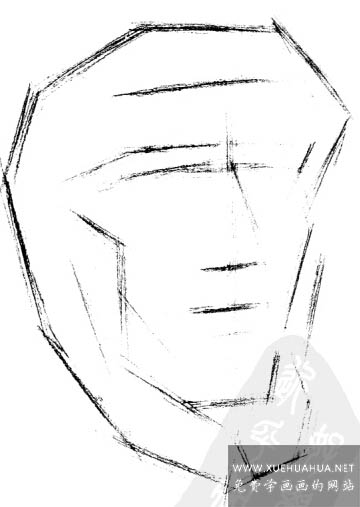 亚历山大分面素描石膏像讲解(1)