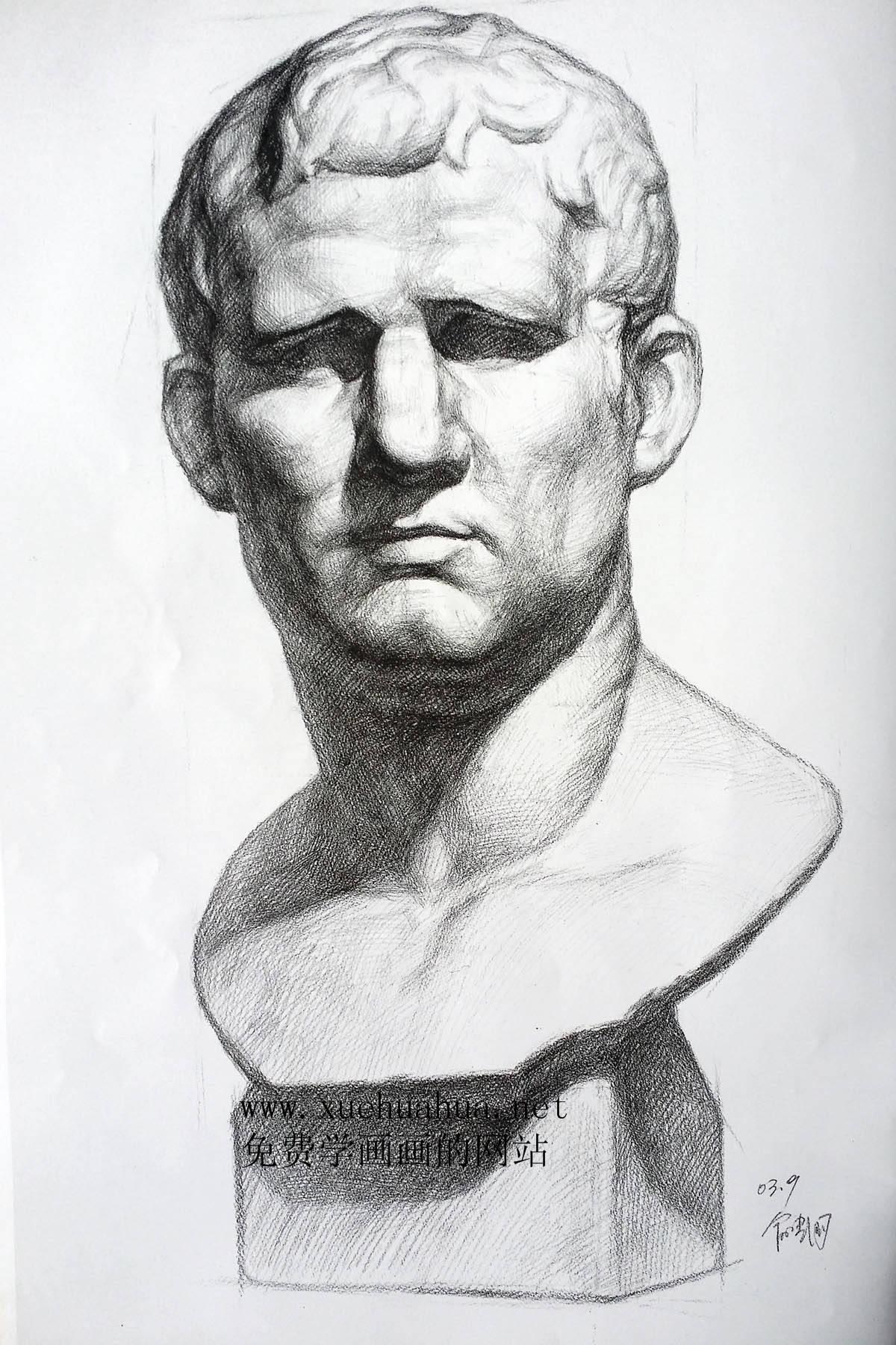 现为素描绘画临摹,写生的基础石膏人物塑像