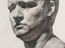 阿格里巴素描石膏像范画欣赏