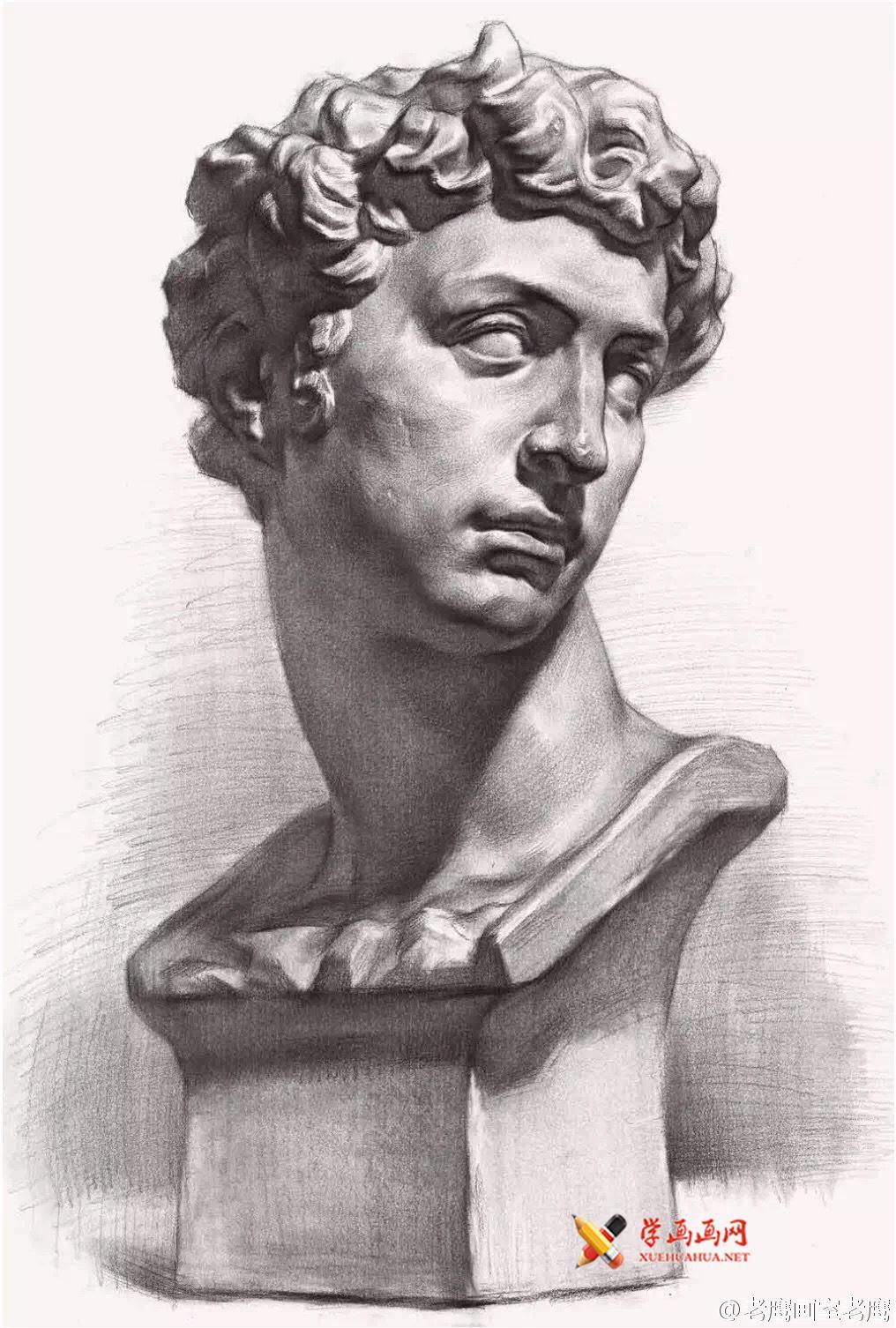 小卫素描石膏像范画2幅(1)